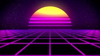 Retro 80's Background