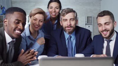 Colleagues at Online Meeting