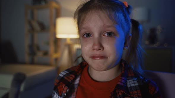 Thumbnail for Little Girl Child Crying And Pouring Tears