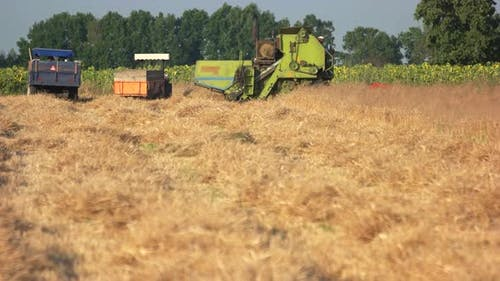 Agricultural Machinery on the Field.