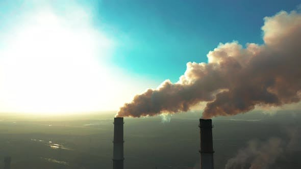 Thumbnail for Smoking Factory Chimneys Environmental Problem of Pollution of Environment and Air in Large Cities