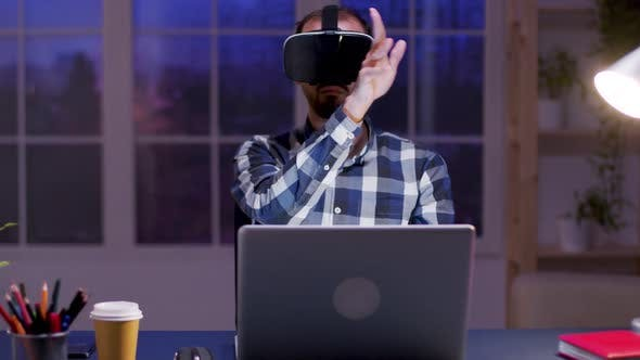 Thumbnail for Young Businessman Using Virtual Reality Goggles