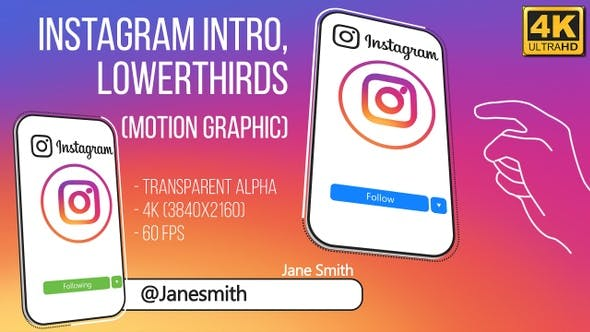 Thumbnail for Instagram Intro and Lowerthird (4K)