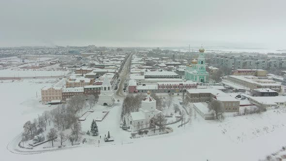 Cover Image for Syzran City in Winter. Russia. Aerial View