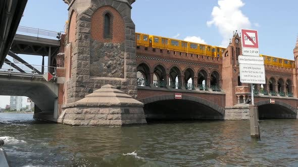 Berlin City - Spree River - Ship, Bridge, Train