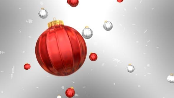 Thumbnail for Christmas Balls Background 02 4k