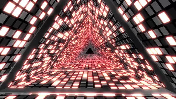 Cover Image for Flashing Triangles Led Loop 4k