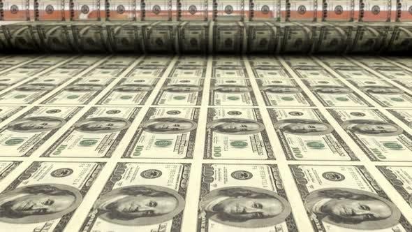 Thumbnail for Drucken von hundert Dollar-Scheine
