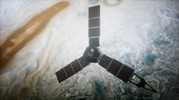 Thumbnail for Juno Sattelite Orbiting Jupiter