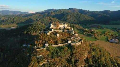 Aerial View Of Wellknown Medieval Castle Hochosterwitz 10
