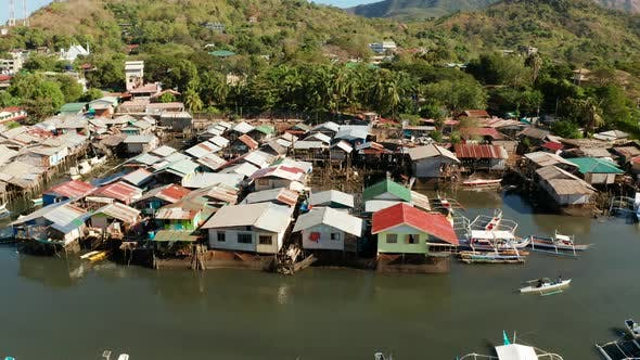 Thumbnail for Fishermen Houses on the Water, Philippines, Palawan