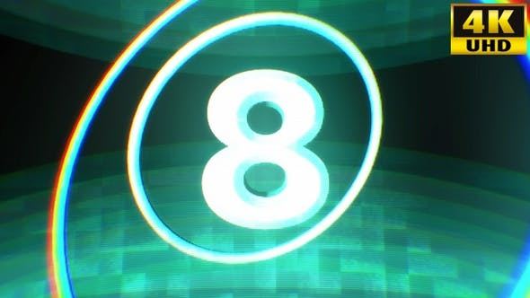 Countdown Timer Glitch Background Vj Loops V2