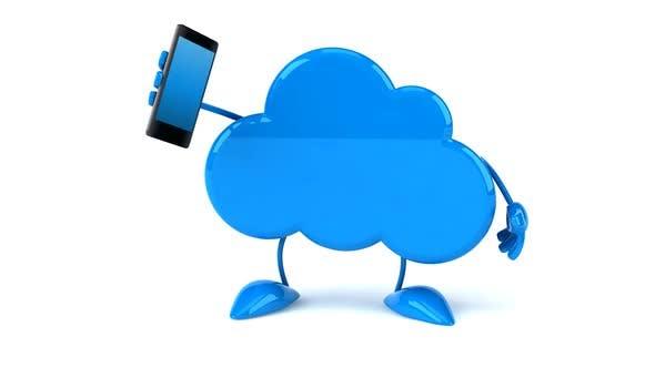 Fun cloud character