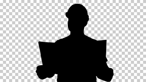Thumbnail for Silhouette Engineer or Architect or Construction Worker
