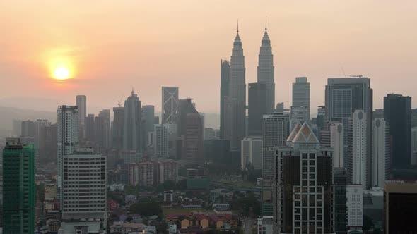 Cover Image for Kuala Lumpur Sunrise Cityscape