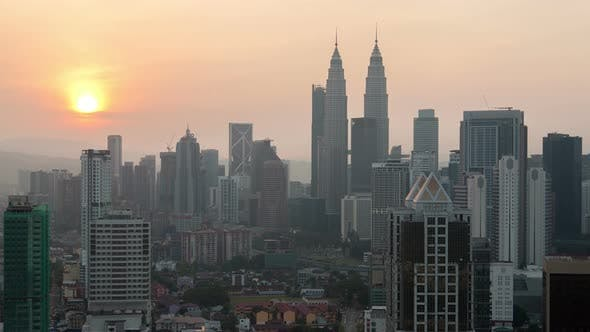 Thumbnail for Kuala Lumpur Sunrise Cityscape
