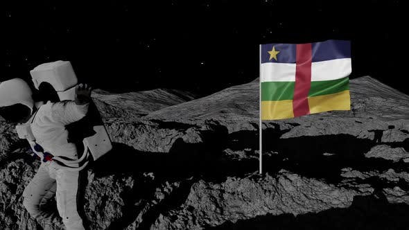 Thumbnail for Astronaut Planting Central African Republic Flag on the Moon