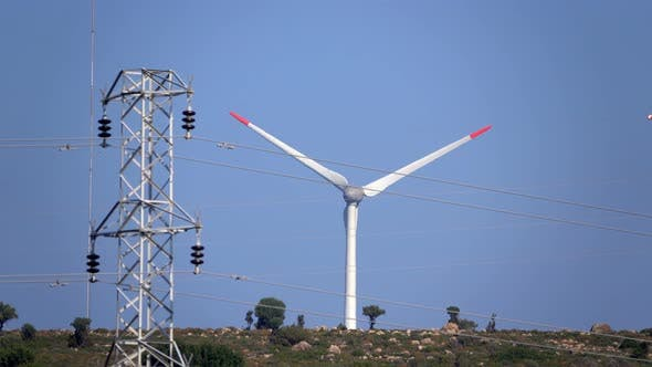Thumbnail for Wind Turbine And The Electric Pole 1