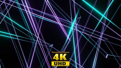Flight Of Neon Abstract Lines 4K