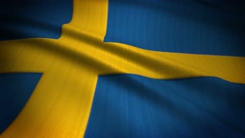 Sweden Flag Seamless Loop