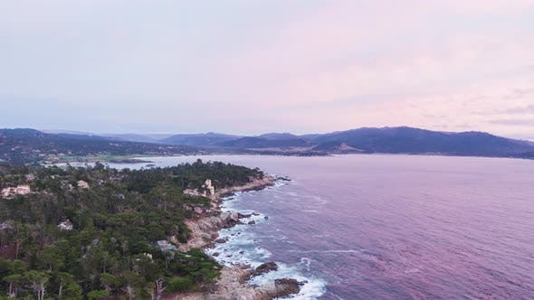 Thumbnail for Pacific Ocean and Coastline. Del Monte Forest, California, USA. Aerial View