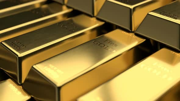 Thumbnail for Close Up View of Fine Gold Bars
