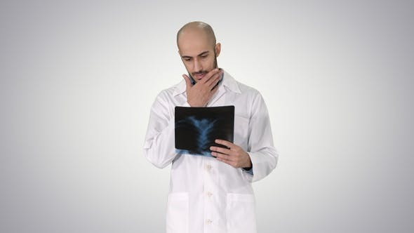 Thumbnail for Doctor Examining a Lung Radiography While Walking on Gradient