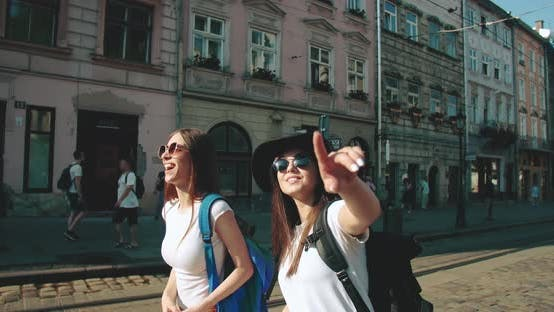 Thumbnail for Two Girlfriends Sightseeing