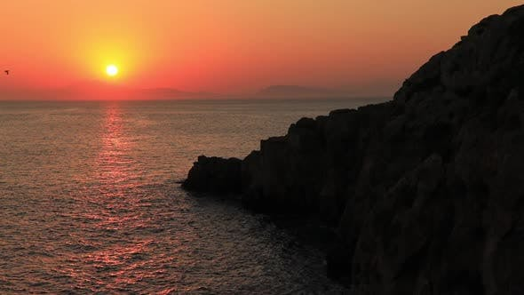 Thumbnail for Sunset on the Beautiful Island of Dokos , Greece