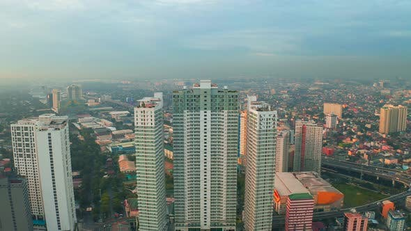 Thumbnail for Modern Building Sunrise Skyline Background in Manila City, Philippines