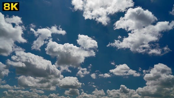 Partly Cloudy Sky of a Sunny Day