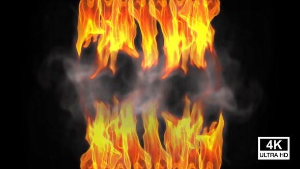 Soft Warm Flames With Smoke 4K