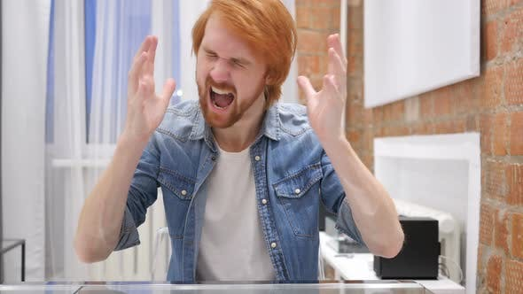 Thumbnail for Screaming Redhead Beard Man Going Crazy