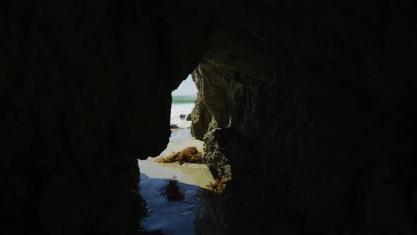 Thumbnail for A sea cave at El Matador State Beach