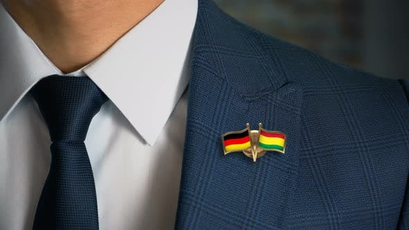 Thumbnail for Businessman Friend Flags Pin Germany Bolivia