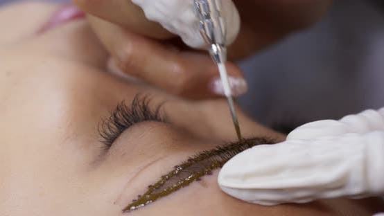 Thumbnail for Permanent makeup for eyebrows on woman eye