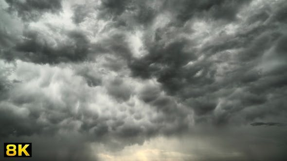 Thumbnail for Gloomy and Depressing Overcast Sky at Storm Clouds