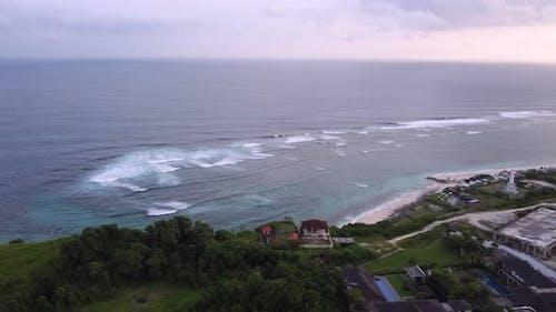 4K Bali Pandawa Beach Dusk Aerial Footage