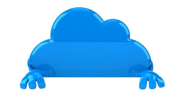 Personnage de nuage amusant