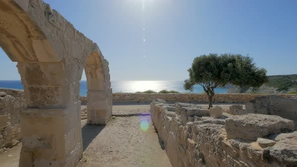 Thumbnail for Panoramic Shot on Ruin of Ancient City Kourion in Cyprus