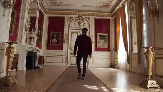 Young Man On A Tour Of The Art Gallery