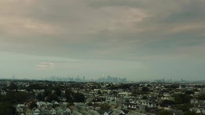 Aerial View of New York Shot From the the Meadowlands