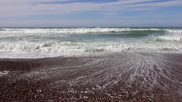 Thumbnail for Landscape with Atlantic Big Waves on Morocco Beach