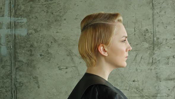 Haircut Hairstyle Model With Short
