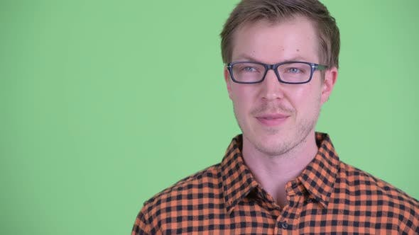 Thumbnail for Face of Happy Young Hipster Man Thinking