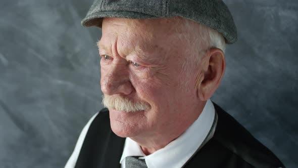 Thumbnail for Portrait of Pensive Elderly Man