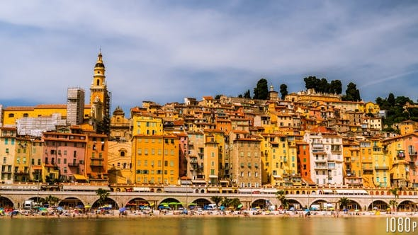 Thumbnail for Time Lapse of the Picturesque Old Town of Menton France