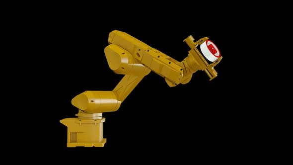 Thumbnail for Robotic Arm and Youtube Logo