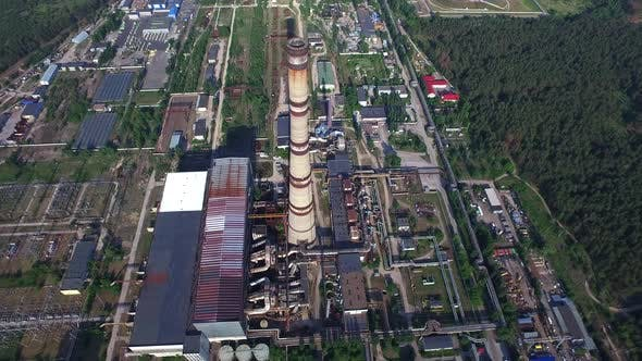 Thumbnail for Rauchkamin Thermalkraftwerk Luftbild Industrial District Territory