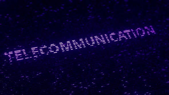Thumbnail for Purple TELECOMMUNICATION Word Made with Flying Particles